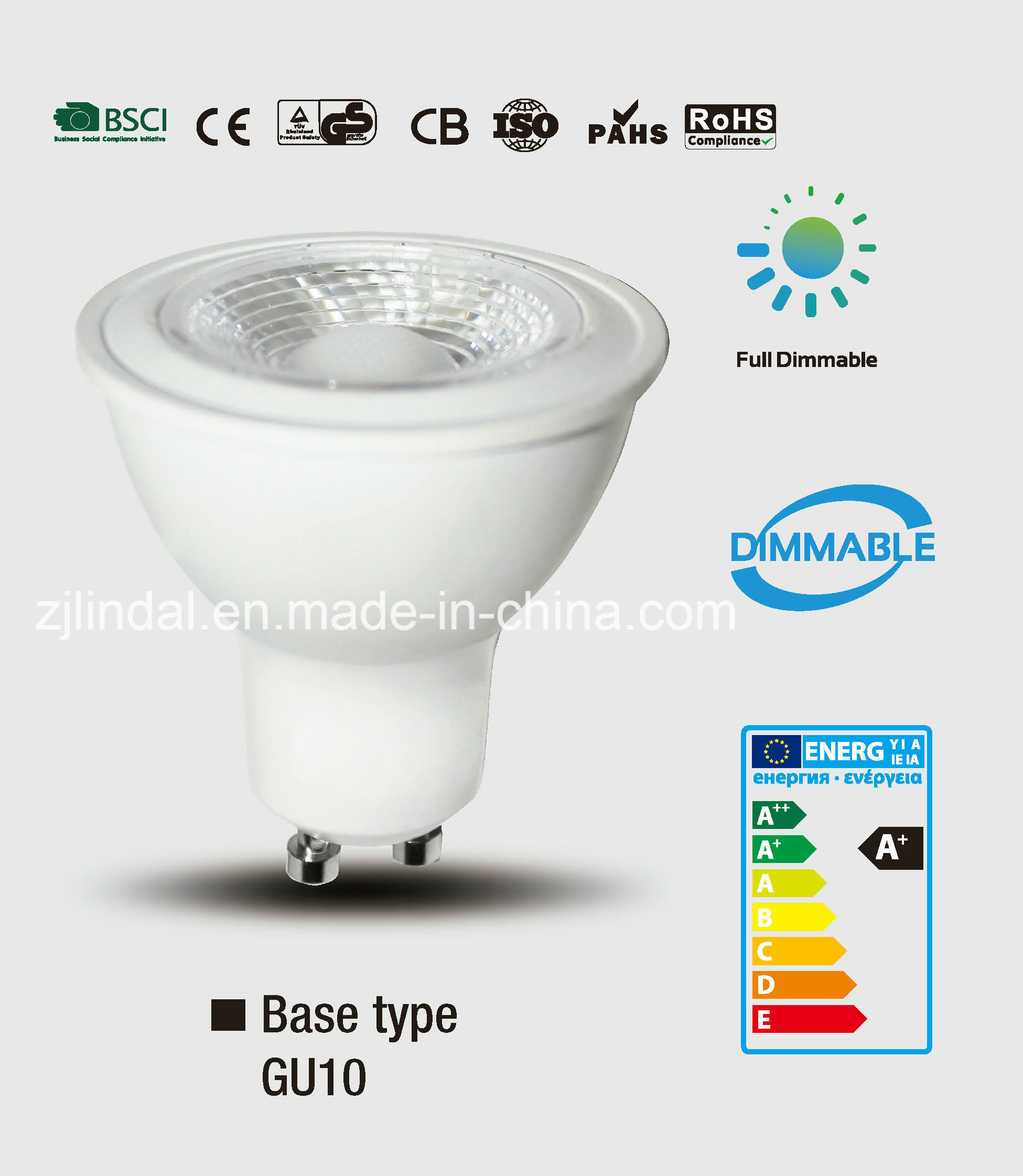 Dimmable LED Bulb GU10-Sbl
