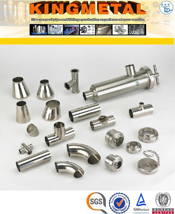 ASTM A403 Wp304 Stainless Steel Food Grade Sanitary Fittings Price