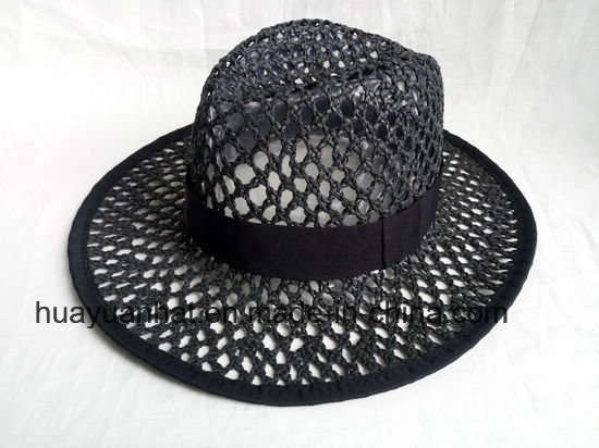 Crocheted Paper Straw Leisure Style Safari Hats