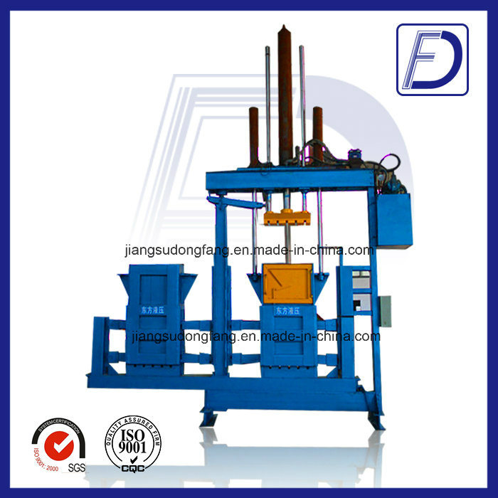 Hydraulic Double Chamber Vertical Baler for Used Clothes and Textile