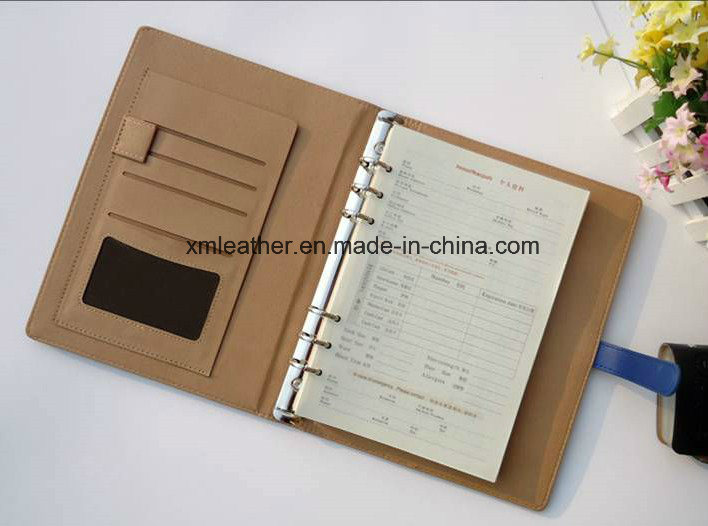 2017 Custom Loose Leaf PU Leather Notebook Diary