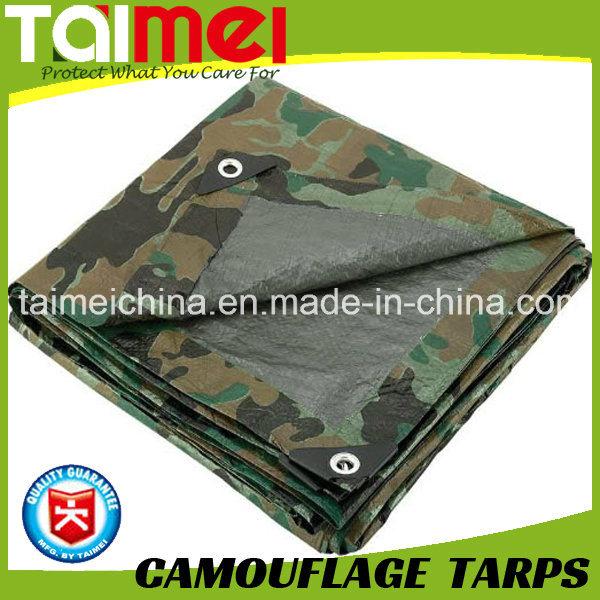 80GSM-200GSM Camo Tarps China Manufactured Waterproof PE Tarpaulin