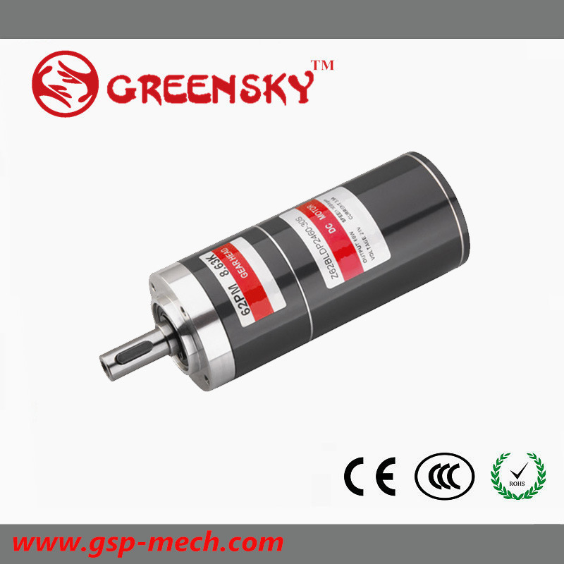 60W 62mm Micro Planetary DC Brushless BLDC Electric Motor for Golf Cart