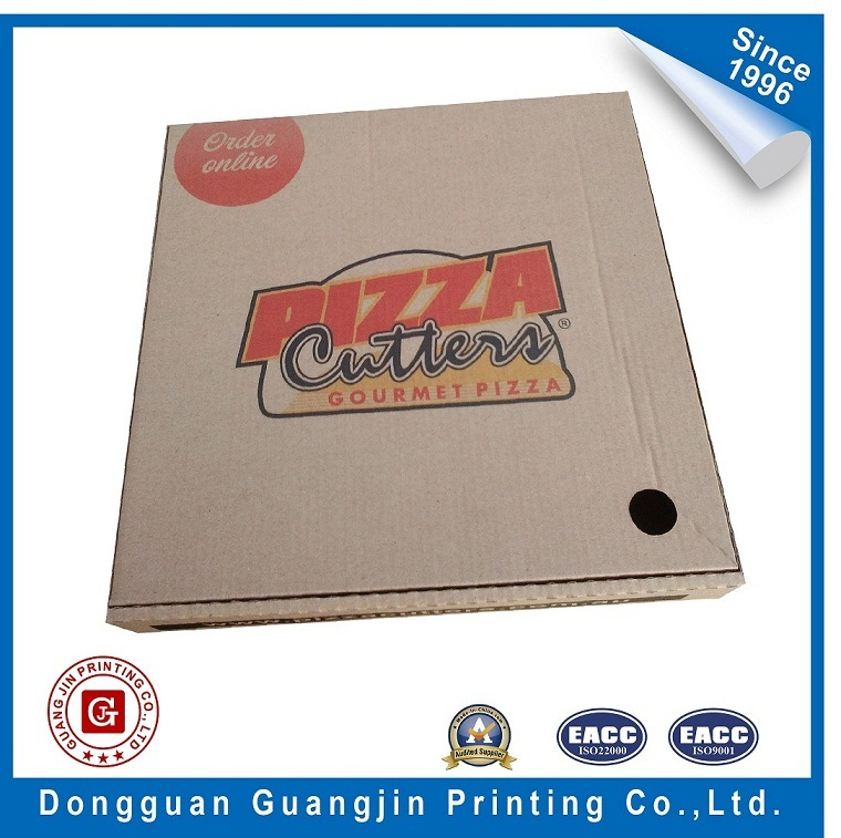 Rigid Corrugated Paper Pizza Packaging Box (GJ-PizzaBox030)