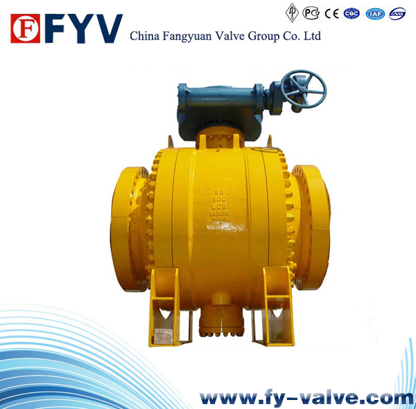API6d Side Entry Trunnion Ball Valve with Gear