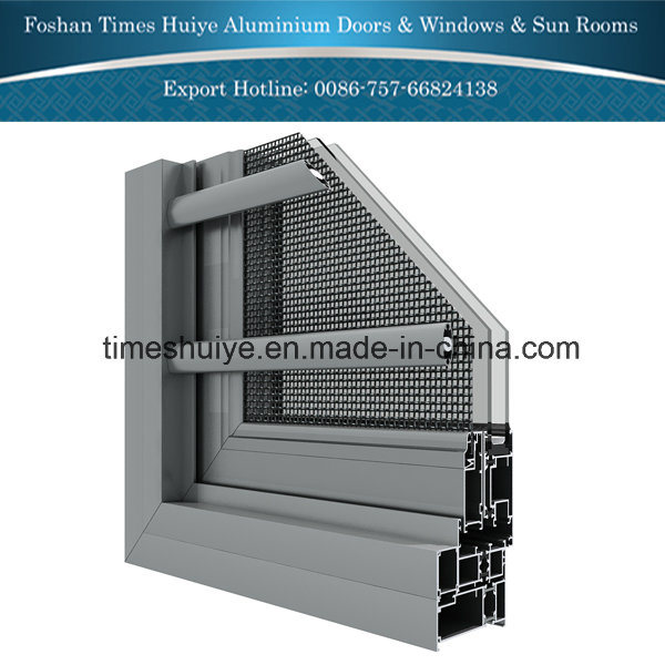 Aluminium Fixed Window with Double Toughened Glass
