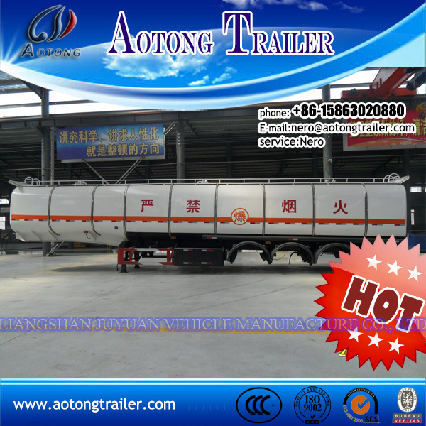 China Aluminum Materials Fuel/Oil Tanker Trailer for Export