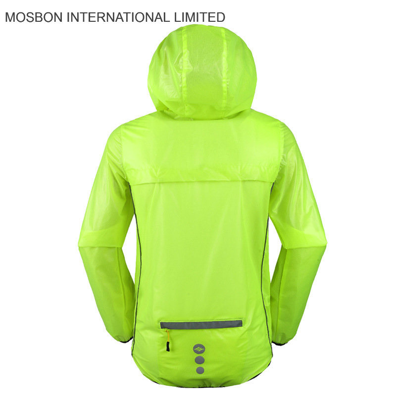 Fluorescent Cycling Rain Jacket/Fodable Jacket