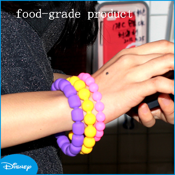 Newest Design Fine Quality for Girls Colorful Plastic Bracelets, Bead Bracelet