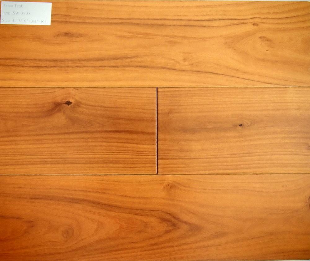China anti static asian teak hardwood flooring sw 3795 for Teak hardwood flooring