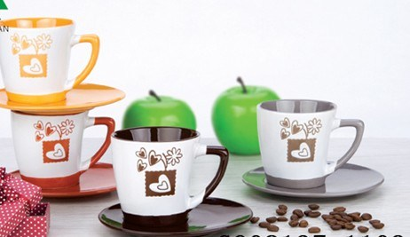 180ml Color Glaze Ceramic Cup and Saucer, Coffee Cup, Tea Set (CT1327)