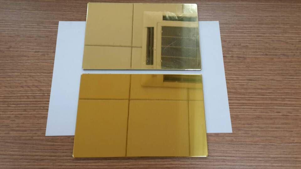4mm Gold Aluminium Composite Panel/mirror Acp - Buy Mirror