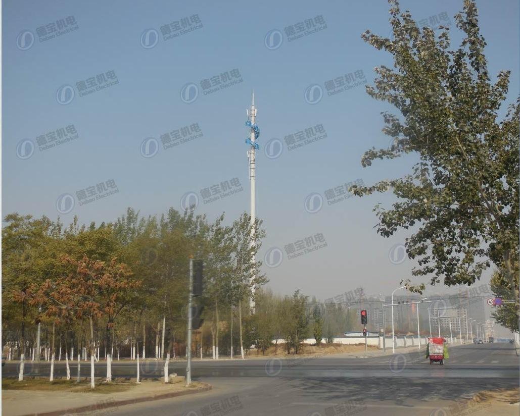 High Quality Carbon Steel Landscape Monopole Tower