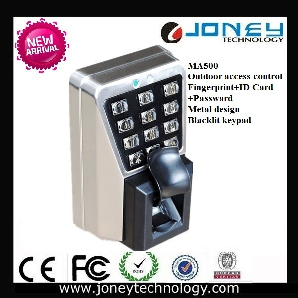 Zk Software Outdoor Biometric Fingerprint Access Control System