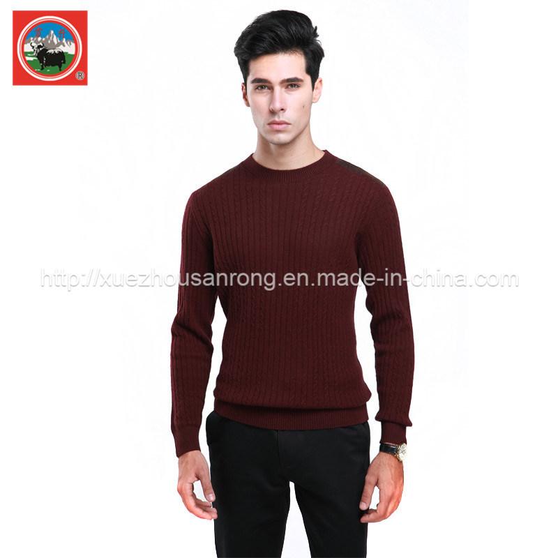 Men Yak Wool Pullover Round Neck Garment/ Cashmere Knitwear/Cashmere Clothig