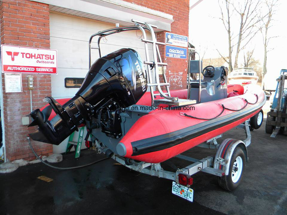 China Aqualand 19feet 5.8m Rigid Inflatable Speed Boat/Rib Rescue/Dive/Fishing/Patrol/Military Boat (RIB580T)