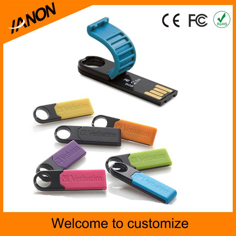 Portable Mini USB Flash Drive for Many Colors to Choice