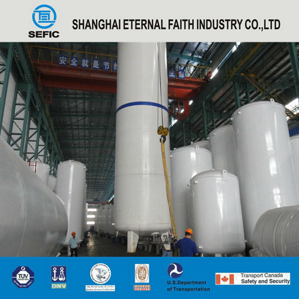 Lox/Lin/Lar Industry Gas Cryogenic Storage Tank Liquid Oxygen/Nitrogen/ Argon Gas Tank (CFL)