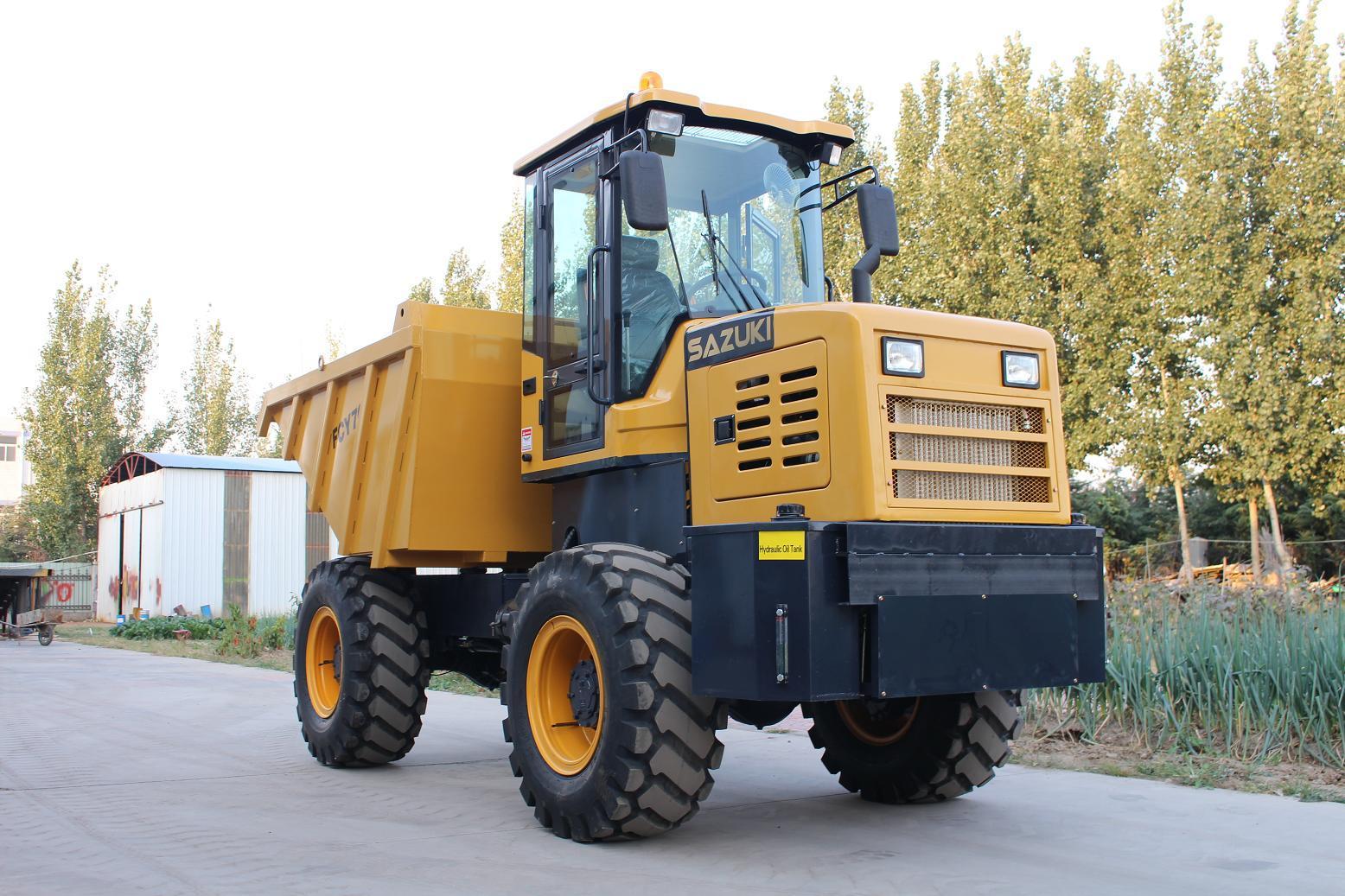 Transportation Machinery 4WD 7ton Hydraulic Site Dumper