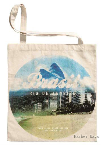 Heat Transfer Printed Cotton Carry Bag (HBCO-55)
