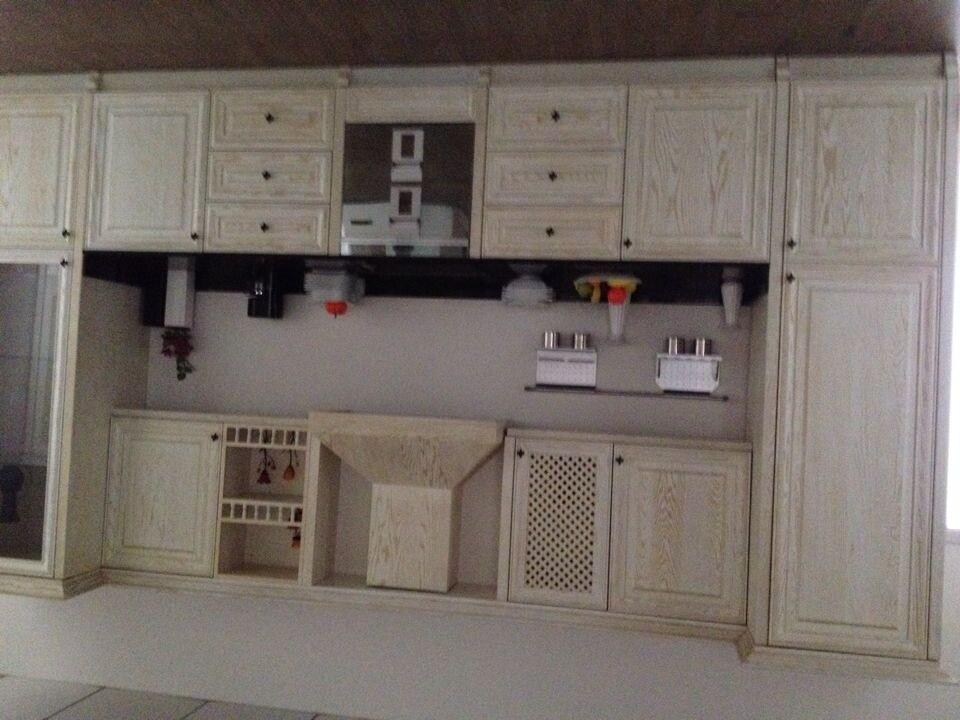 Red Oak Solid Wood Kitchen Furnitures