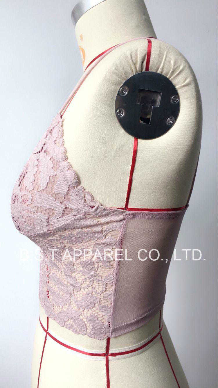 Sexy Popular Lace&Mesh Bralette (300110-1W)