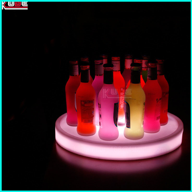 LED Wireless Light up Plastic Wine Fruit Tray