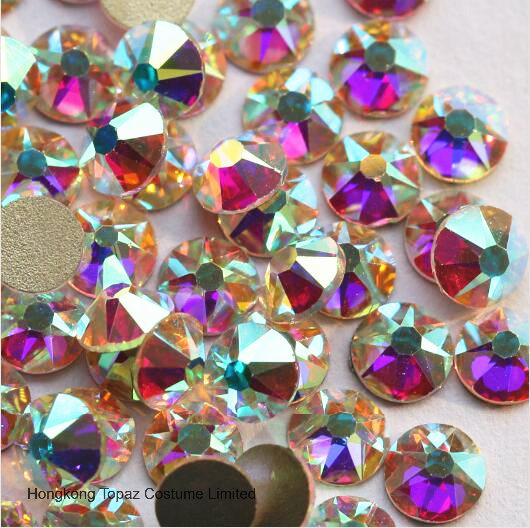 Ss20 Crystal Ab Glass Rhinestone Flatback Non Hotfix Rhinestone Crystals for Dress (FB-SS20 crystal ab)