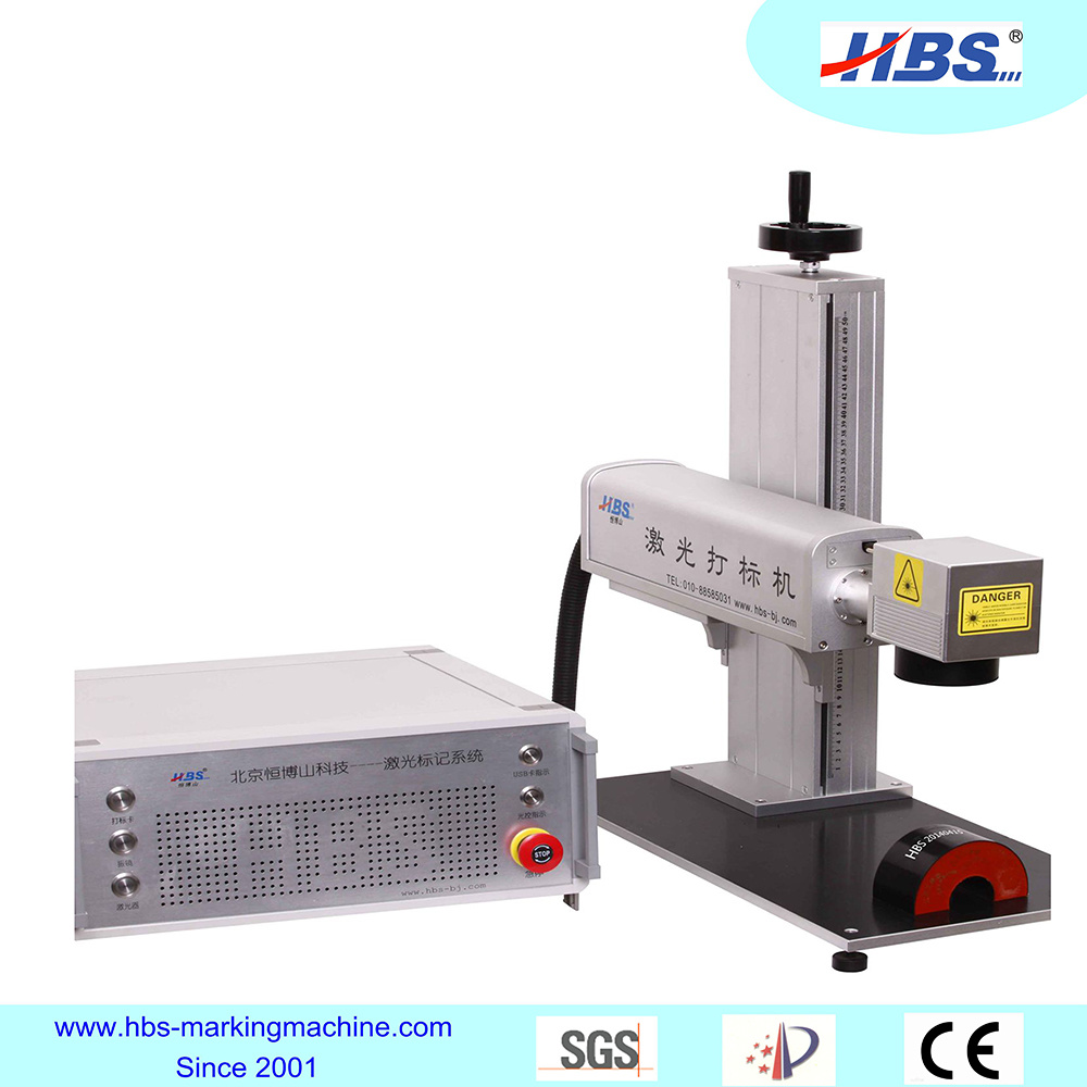 Portable Tabletop Fiber Laser Marking Machine with Raycus Laser Source for Metal Marking