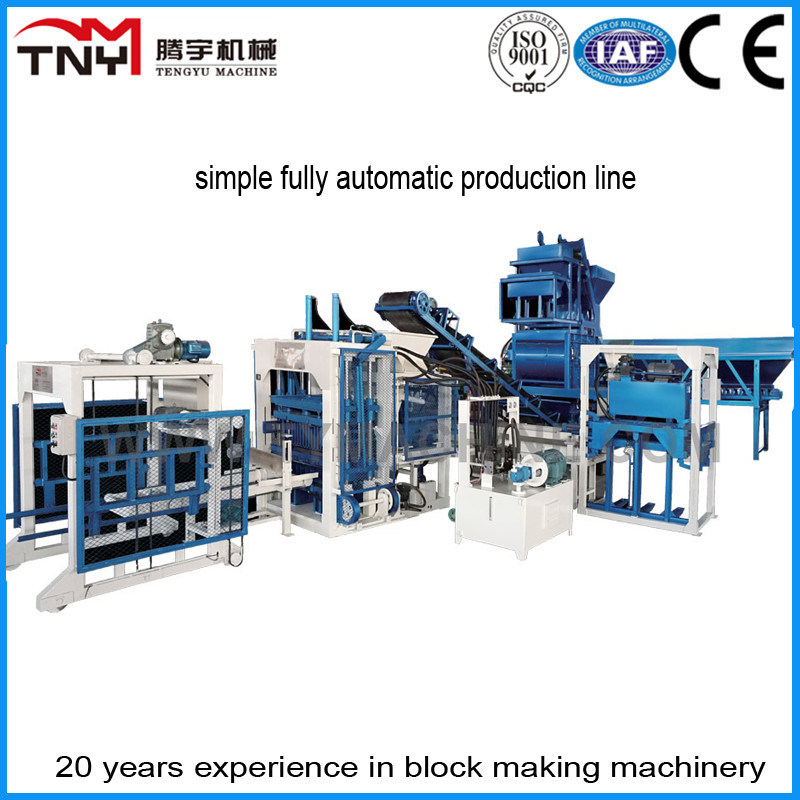 Simple Fully Automatic Concrete Block Machine Production Line