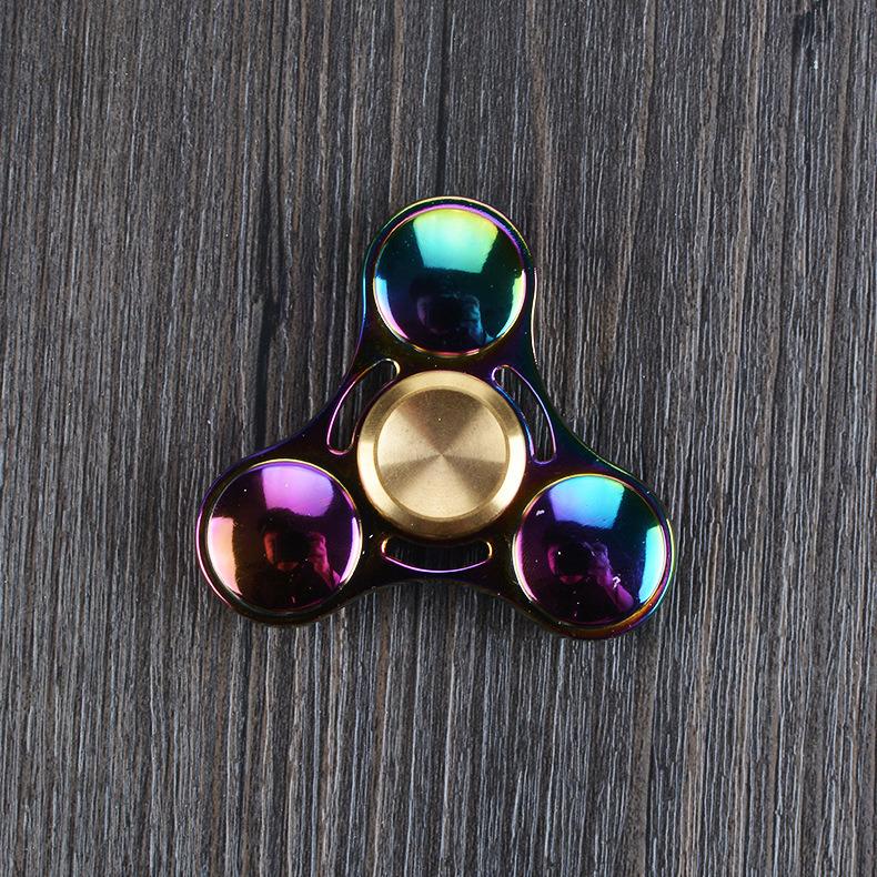 Rainbow Color Hand Spinner Zinc Alloy Metal Fidget Spinner