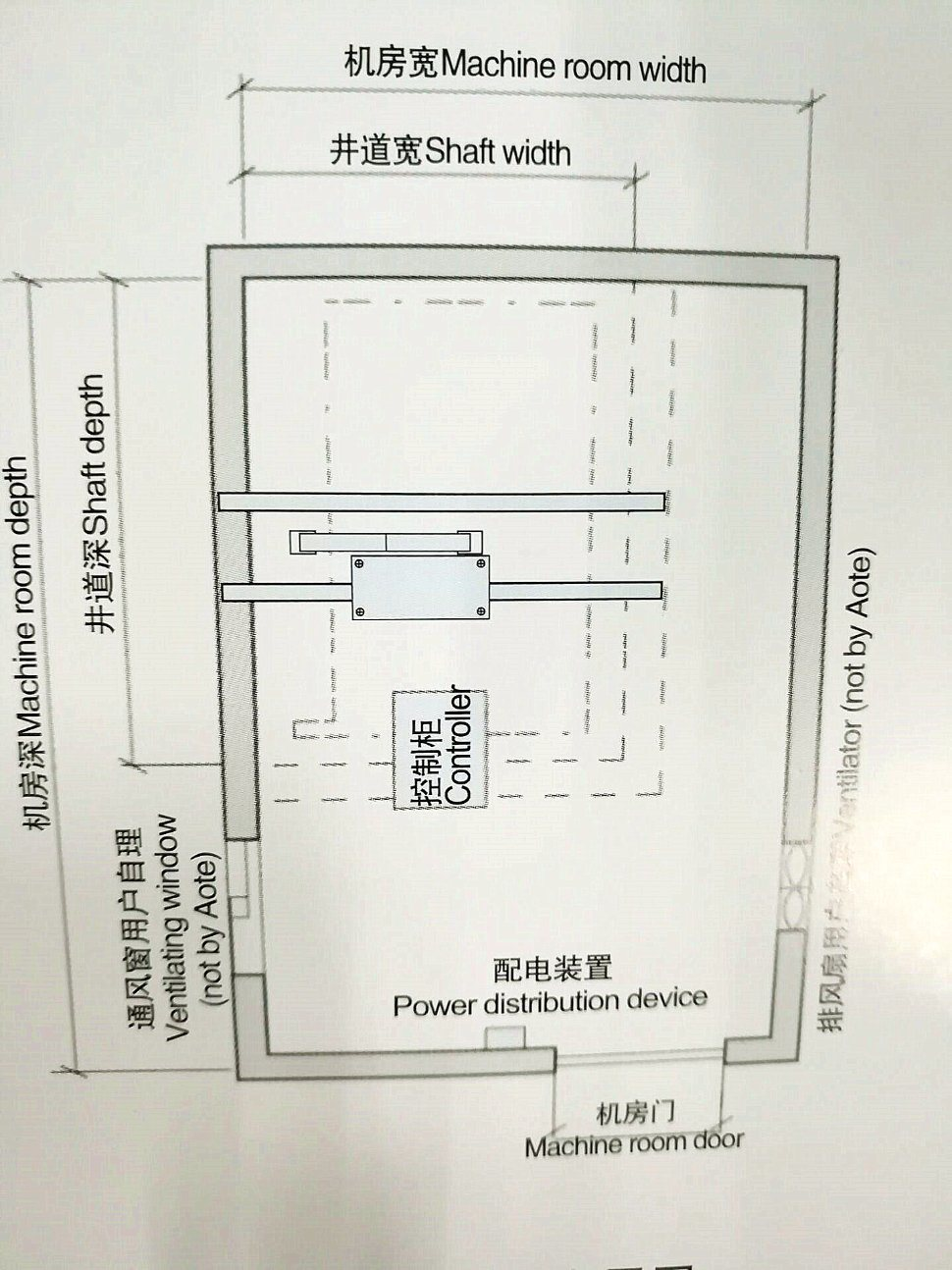 Large Capacity Hospital Bed Elevator in Passenger Elevator (F02)