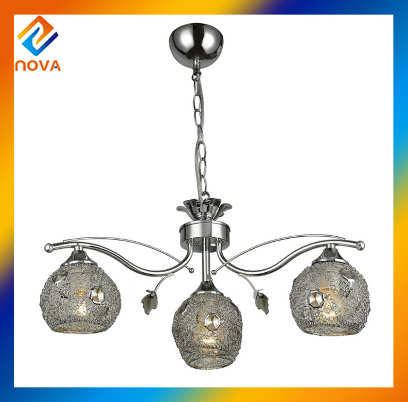 Round Pendant Glass Ceiling Light, Chandelier Pendant Lighting