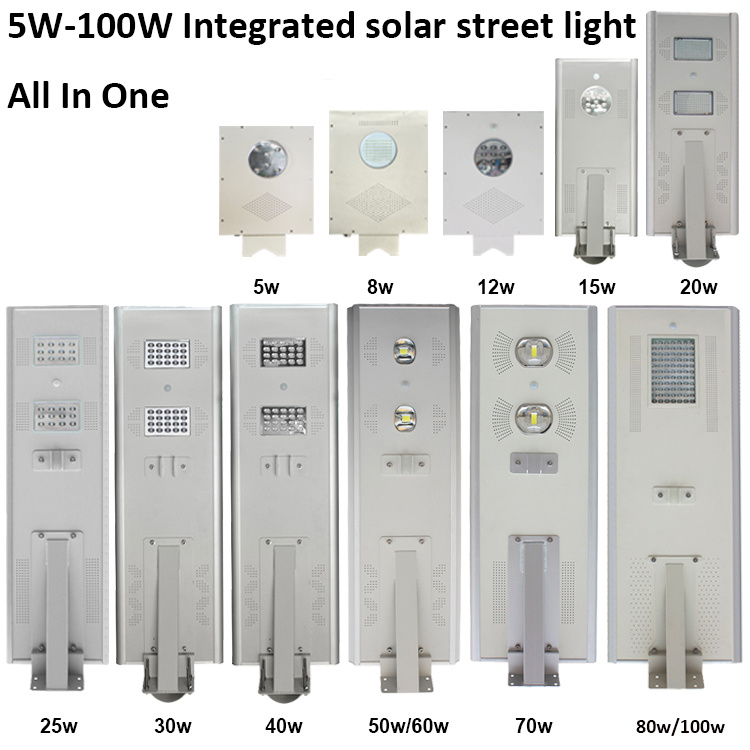 Cheap Price Outdoor IP65 Waterproof All in One Solar LED Street Light Lamp with PIR Motion Sensor
