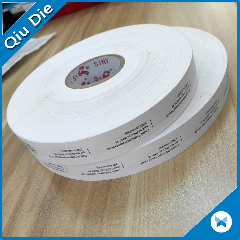 Roll Packing Single Side Printed Nylon Taffeta Label Fabric