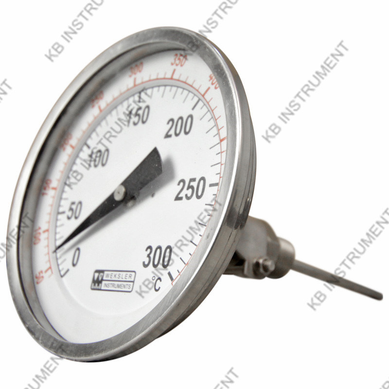 All Stainless Steel Bimetal Thermometer Adjustable- Angle 0+300c