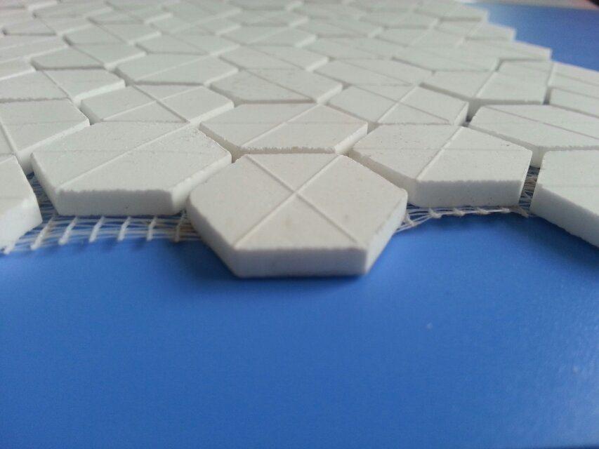 92% 95% Al2O3 Alumina Ceramic Hexagon Tile