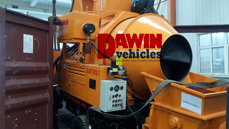 Towable Concrete Mixing Pump with Diesel Engines 500L Mixer