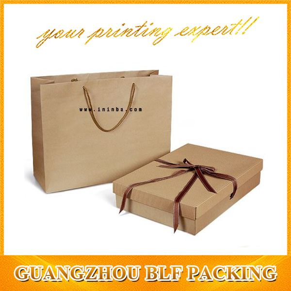 Brown Kraft Paper Box and Paper Bags