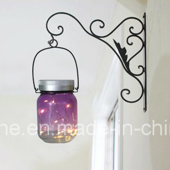 Romantic LED Solar Firefly Mason Jar Decorative Outdoor Lights