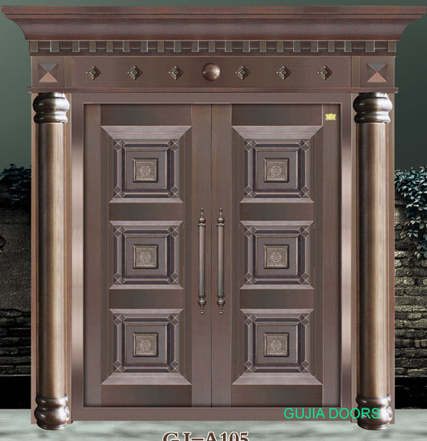 double leaf copper door villa door entrance door security door gj a105