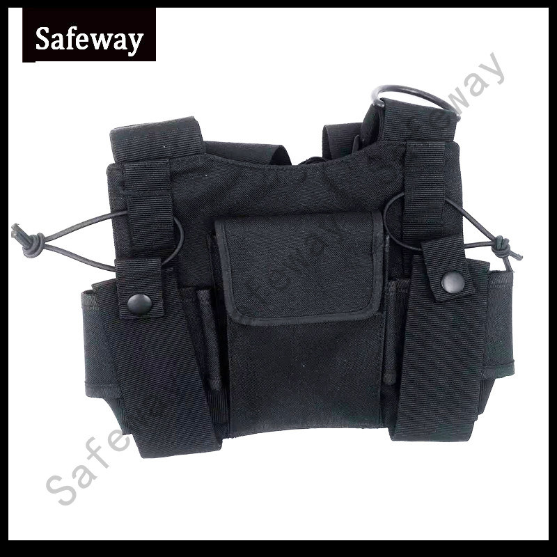 Two Way Radio Walkie Talkie Adjustable Chest Harness Bag