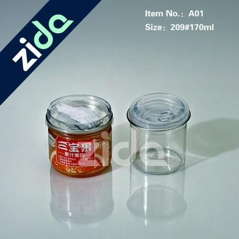 Pet Clear Plastic Candy Jar with Screw Cap Wholesale
