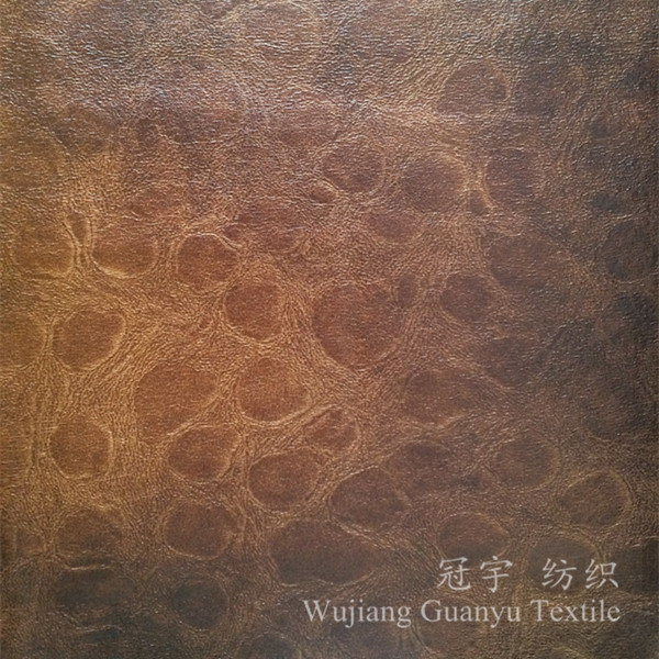 100% Polyester Bronzing Suede Fabric with Backing for Sofa