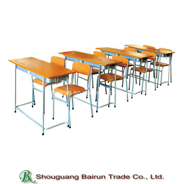 Steel Tube Frame School Desk and Chair