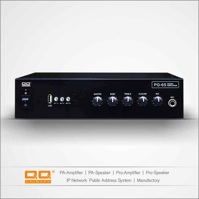 Pg-6s High Power Rated Voltage Power Amplifier with USB 30W