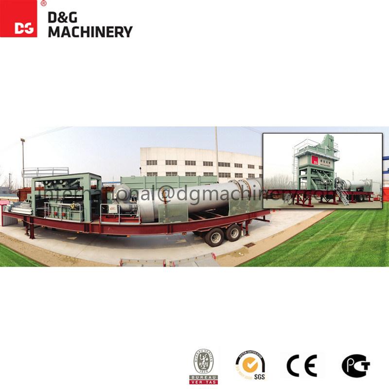 100 T/H-123t/H Mobile Asphalt Batching Plant
