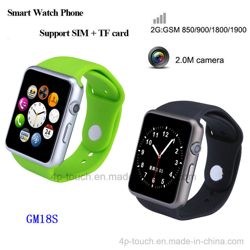 2016 Mtk2502 System Smart Watch Phone with 2.0m Camera