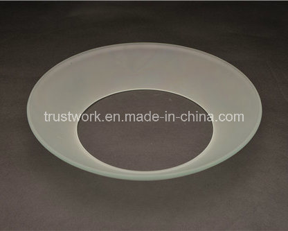 European Ceiling Lamp Bent Glass Lamp Shade