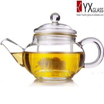 Fashion Design 250ml Glass Teapot with Glass Infuser Glass Cap/Glass Tea Maker /Glass Tea Kettle